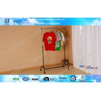 Wholesale Black Steel Telescopic Single Pole Clothes Rack / Stand Strong Laundry Rack with Wheels from china suppliers