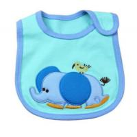 Wholesale Washable Blue Elephent Custom Baby Bibs Disposable Feeding Bibs from china suppliers