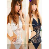 Wholesale Black / White Wasit String Closure Hand Crochet Bikini Swimwear For Womens Bathing Suits from china suppliers