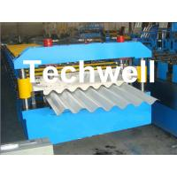 Quality Galvanised Corrugated Roll Forming Machine With Coil Width 762 / 914 / 1000 / 1220mm for sale