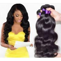 Wholesale Fashion 6A 100% Peruvian Virgin Hair Straight Peruvian Hair Bundles Black 18 Inch from china suppliers