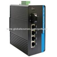 Buy cheap PoE industrial Ethernet switch, 15.4w per PoE port, dual redundant power input(-48V DC) from wholesalers
