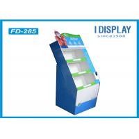 Quality 4 Compartments Corrugated Retail Cardboard Displays For Indoor Supermarket for sale
