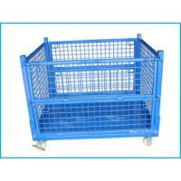 Wholesale heavy duty stackable metal wire mesh storage container with wheels, Movable cage from china suppliers