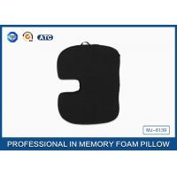Wholesale Black Orthpedic Polyurethane Memory Foam Seat Cushion With Handcarry Non-slip Cover from china suppliers
