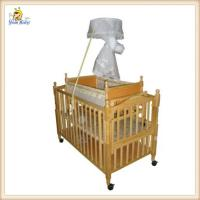 Wholesale Nature Wooden Baby Boy Crib Bedding Sets / Small Automatic Swing Cot from china suppliers