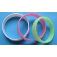 Buy cheap Non-Toxic Colourful Embossed Rubber Custom Silicone Wristband With For Children Size 180x12x2mm from wholesalers