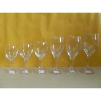 Wholesale brand, whiskey, champange Drinking Logo Printing glassware, clear Blown Goblet Wine Glass from china suppliers