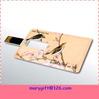 Wholesale custom made business card usb flash drive from china suppliers