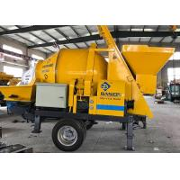 China Floor Screed Concrete Mixer Pump , Trailer Mounted Mobile Concrete Mixer With Pump on sale