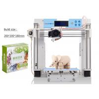 Wholesale Family Desktop DIY 3D Printers , 1.75 PLA Filament Hotbed 3D Printer from china suppliers