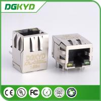Wholesale 8 pins 10 / 100 BASE-T RJ45 Connector with Transformer,LED Communication jack from china suppliers