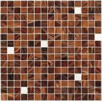 Wholesale Brown with silver gold 20mm glass mosaic mix patter decoration from china suppliers