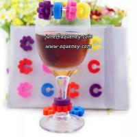Wholesale Party use wine mark/promotional using /silicone wine charms from china suppliers