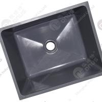 Quality Resist Strong Alkalies And Acid Sink Outlets & Accessories Epoxy Resin Black Sink For Laboratory Worktops for sale