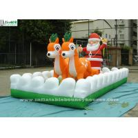 Wholesale Outside Christmas Inflatables Jingle Bells / Father And Reindeers Running Together from china suppliers