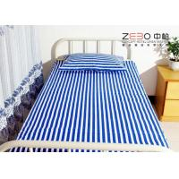 Wholesale 3cm Jacquard Fabric Hospital Bed Sheet With Quality Test 40s Yarn Count from china suppliers