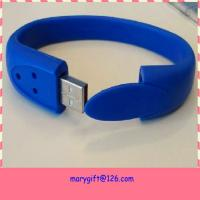Wholesale cheap custom made silicone wristband usb flash drive from china suppliers