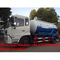 Wholesale customized Dongfeng 4*2 RHD 10,000Liters vacuum tank truck for sale, Factory sale cheaper price sewage suction truck from china suppliers