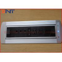 Wholesale Aluminum Electrical Hidden Desk Mounted Power Sockets With VGA Cables from china suppliers