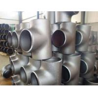 Wholesale Titanium large diameter seamless pipe fittings flange fasteners tee is used in Marine drilling platform riser from china suppliers