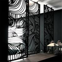 Wholesale Foshan customized color stainless steel screen for living room wall panel, hollow metal laser cutting screen from china suppliers