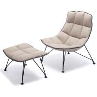 jehs+laub wire lounge chair & ottoman