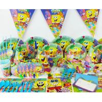 Wholesale SpongeBob theme party set kids birthday party suppliers child Decoration evening party set celebration decoration from china suppliers