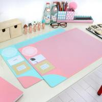 Wholesale Monogrammed Colorful Desk Protector Pad Custom Printed Table Mat from china suppliers