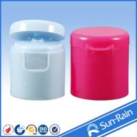 Wholesale White red Flip top Plastic Bottle Cap , cosmetic bottle caps 24/415 28/415 from china suppliers