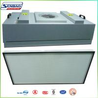 Buy cheap High Efficiency HVAC Air Filters , Industial FFU Fan Filter Unit with H13 99.99% from wholesalers