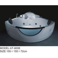 Wholesale White color Air Bubble Bathtubs Quadrant Shape massage tubs 155 x 155 X 72 from china suppliers