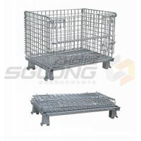 Wholesale Fully Collapsible Wire Container Storage Cages Industrial Metal Baskets from china suppliers