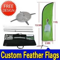 Wholesale Teardrop / Feather Flags Banner With 2.3kg Cross Base + Water Bag from china suppliers