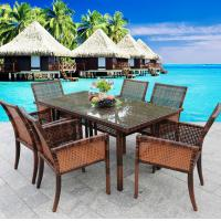 Wholesale New Luxury Dining Seating Table Garden Patio Wicker Rattan Outdoor Home Restaurant Lounge Furniture Modern from china suppliers