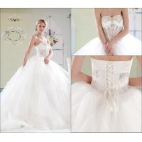 Wholesale Simple Tulle Court Train Sweetheart Wedding Gowns / Lace Up Wedding Dresses from china suppliers