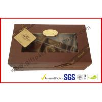 Wholesale Luxury Chocolate Color Packaging Gift Boxes , Top and Base Box With Window Package from china suppliers