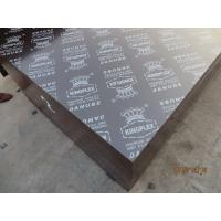 Buy cheap KINGPLEX' BRAND FILM FACED PLYWOOD, COMBI CORE, WBP PHENOLIC GLUE, IMPORTED BROWN FILM from wholesalers