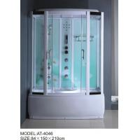 Wholesale 84 X 150 X 210 / cm square shower cabin , film back panel one wall shower enclosures from china suppliers