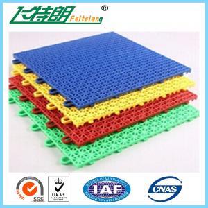 China Outdoor / Indoor Polypropylene Rubber Gym Flooring Tiles Interlocking Customized on sale