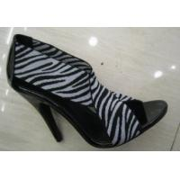 Buy cheap Ladies Zebra-Stripe High Heel Summer Leather Shoes With Special Design from wholesalers