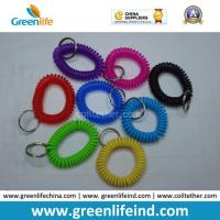 Wholesale China Best Quality PU Plastic Spiral Wrist Coil Key Chain from china suppliers