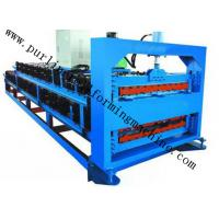 Wholesale Metal Trapezoidal Roof Tile Double Layer Roll Forming Machine with PLC System from china suppliers