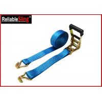 Wholesale 35mmx10m  Green Ratchet Straps with Double J Hook Ratchet Straps for Cargo Security from china suppliers