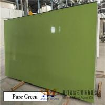 China Pure Green Quartz Stone Slabs for sale
