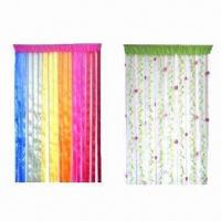 Wholesale Decorative PVC door curtains, made of 6P PVC, available in various patterns and colors from china suppliers