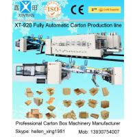 Automatic Paperboard Printer Slotter Die Cutter  Folder Gluer Bundling Machine