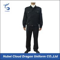 Quality Dark Blue Police Security Officer Uniforms For Public Safety Protection , Color Customized for sale