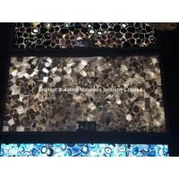 Wholesale Backlit Smoky Rock Crystal Semiprecious Stone Slab Panel from china suppliers