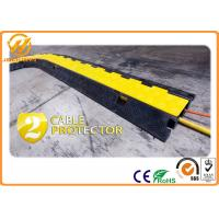 Quality 300 * 250 * 50mm 45 Degree 2 Channel Rubber Cable Corner Protector Yellow for sale